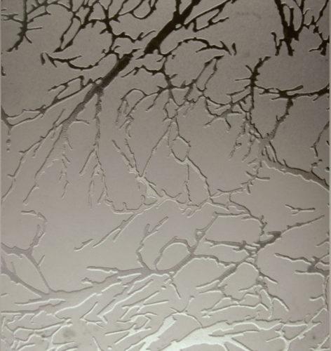 Дверное стекло Коралл бронза