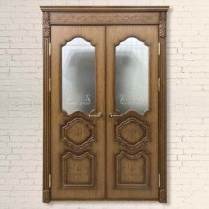 Межкомнатная Двустворчатая дверь Дипломат