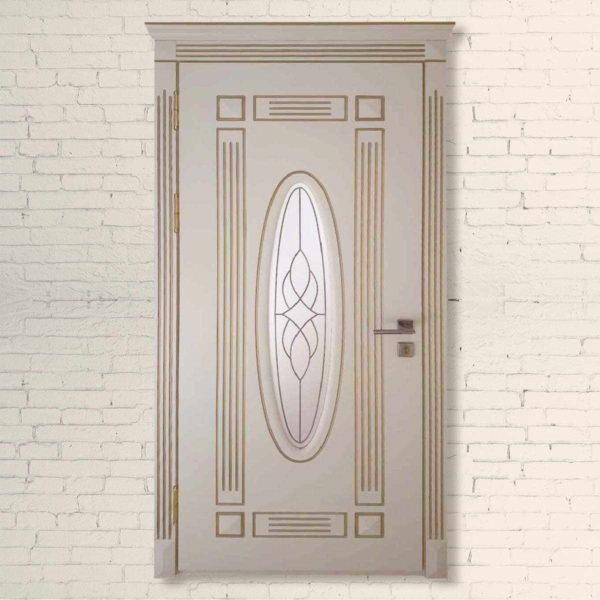 Межкомнатная дверь Классик Овал 3d