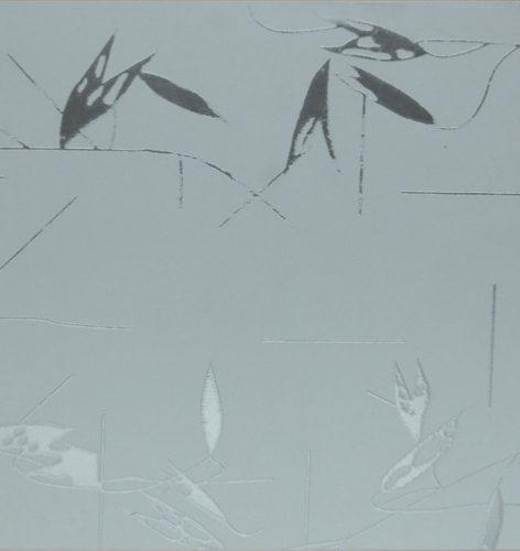 Дверное стекло Плавни бесцветные