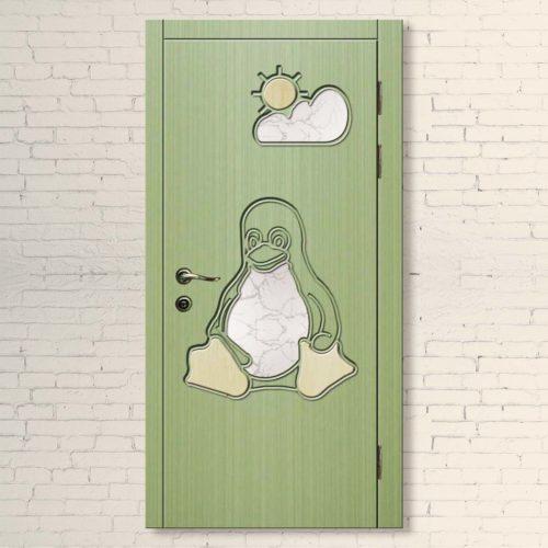 Межкомнатная дверь для детей Пингвин