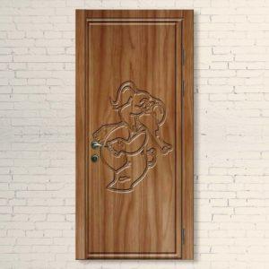 Межкомнатная дверь для детей Слоник