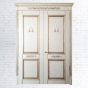 Межкомнатные двустворчатые двери Дуэт