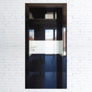 Межкомнатные двери Модерн Элит+черное/белое