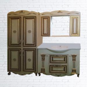 Комплект мебели для ванной комнаты «Версаче 3D»